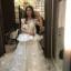 ชุดแต่งงาน แขนกุุด หางยาว thumbnail 14