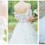ชุดแต่งงาน ไหล่ปาด แขนสั้น หางยาว thumbnail 7