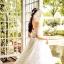 ชุดแต่งงาน ไหล่ปาด แขนสั้น หางยาว thumbnail 14