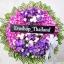พวงหรีดดอกไม้สด รหัส 5031
