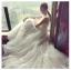 ชุดแต่งงาน แขนกุด หางยาว thumbnail 3