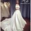 ชุดแต่งงาน ไหล่ปาด หางยาว thumbnail 2