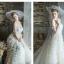 ชุดแต่งงาน ไหล่ปาด แขนสั้น หางยาว thumbnail 4