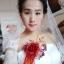 ชุดแต่งงาน ไหล่ปาด แขนสั้น หางยาว thumbnail 12