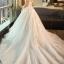 ชุดแต่งงาน แขนกุด หางยาว thumbnail 4