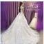 ชุดแต่งงาน แขนกุด หางยาว thumbnail 2