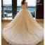 ชุดแต่งงาน ไหล่ปาด หางยาว thumbnail 4