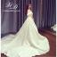 ชุดแต่งงาน ไหล่ปาด หางยาว thumbnail 5