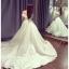 ชุดแต่งงาน ไหล่ปาด หางยาว thumbnail 7