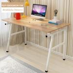 CASSA โต๊ะคอมพิวเตอร์ โต๊ะอเนกประสงค์ เรียบง่ายสไตล์มินิมอล ขนาด120X58ซม. (สีลายไม้เข้ม-โครงขาว) รุ่น F27-120X58CM-YW