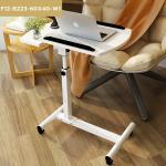 CASSA โต๊ะคอมพิวเตอร์ โต๊ะอ่านหนังสือ อเนกประสงค์ สอดใต้เตียง ปรับระดับ+ล้อเลื่อน (สีขาว) รุ่น F12-B223-60X40-W1