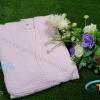 ชุดคลุมอาบน้ำผ้ารังผึ้ง สีชมพูอ่อน Size S