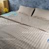 ชุดผ้าปูที่นอนโรงแรมลายริ้ว 3.5 ฟุต (3 ชิ้น) สีโอวัลติล
