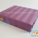 ชุดผ้าปูที่นอนโรงแรมลายริ้ว 3.5 ฟุต (5 ชิ้น) สีม่วง