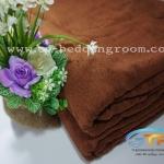 ผ้าห่มขนหนู ไซส์ 60″ x 80″ นิ้ว 40 ปอนด์ สีน้ำตาลไหม้แดง