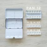 รีวิว กล่องเหล็ก แพนใส่สีน้ำ แต่ละขนาด 12/24/48 by Artbookstation.com