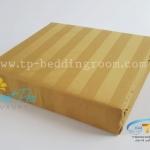 """ชุดผ้าปูที่นอนลายริ้วสีน้ำตาลทอง - Golden Goddess Stripe 1"""""""