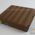 """ชุดผ้าปูที่นอนลายริ้วสีช็อคโกแลต - Rich Choccolate Stripe""""1"""