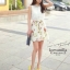 Romantic retro flower sleeveless Dress thumbnail 1