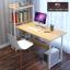 CASSA โต๊ะทำงาน โต๊ะเขียนหนังสือ โต๊ะสำนักงาน พร้อมชั้นวางหนังสือ ขนาด102x50cm. thumbnail 2