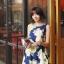 Retro Flower Sleeveless Dress thumbnail 1