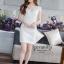 White embellished lace Dress thumbnail 1