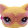 แว่นตา กรอบหัวใจ สีม่วง