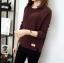 เสื้อกันหนาว Sweater authum N winter women (สีน้ำตาลเข้ม) thumbnail 1