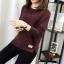เสื้อกันหนาว Sweater authum N winter women (สีน้ำตาลเข้ม) thumbnail 3