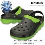 M8/W10 (26.5 cm.) : Crocs Duet Max Clog - Graphite / Volt Green ของแท้ Outlet ไทยและอเมริกา