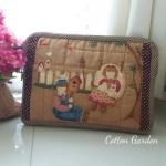 กระเป๋าใส่ Mini Ipad ลาย Bess & Billy สไตล์คันทรี ผ้าญี่ปุ่นแท้ ควิลล์มือค่ะ ปกป้องไอแพดที่รักของคุณ น่ารักไม่ซ้ำใคร สำเนา