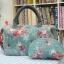 กระเป๋าผ้าญี่ปุ่น แพคคู่ ทรงสะพายไหล่ ขนาด 30 x 25 cm สายหนังแท้ พร้อมกระเป๋าใส่ของจุกจิก ลายดอกไม้สวยหวาน (สินค้าฝากขาย ไม่บวกเพิ่ม ) thumbnail 1