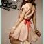 SALE//SALE (ส่งฟรี) ชุดเดรสผ้าไหมซาติน คอวี สีชมพูลายจุดขาว มีสายมัดโบว์เอวสีชมพูเข้ม เพิ่มดีเทลให้ชุดดูสวยเปรี้ยวโดดเด่นมากค่ะ thumbnail 3