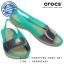 W6 (23.5 cm.) : Crocs ColorBlock Flat - Tropical Teal / Nautical Navy ของแท้ Outlet ไทยและอเมริกา thumbnail 1