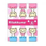 คลิปเหล็ก San-X Rilakkuma FS03401 ชมพู (แพ็ค6อัน)