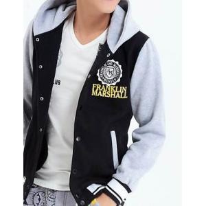 เสื้อแจ็คเก็ต เบสบอล เสื้อคลุมมีฮู้ด hood Logo FM No.38 สีดำแขนเทา