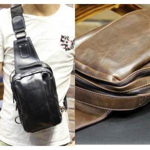 กระเป๋าสะพายเฉียง ไอแพด ipad หนังเก่า 3ช่อง วินเทจ สีน้ำตาล ดำ