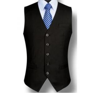 3สี เล็ก+ใหญ่ เสื้อกั๊กสูทสลิมฟิต มาตรฐาน MI กระดุม5เม็ด สี ดำ Size No.37