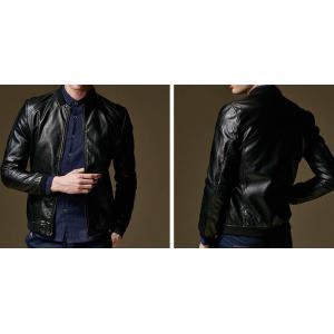เสื้อแจ็คเก็ตหนังเบสบอล สลิมฟิต แฟชั่นซิบ BIW สี ดำ No.38 40 42 44 46