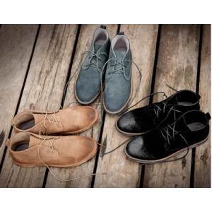 รองเท้าหนังกลับหุ้มข้อชาย หัวพ่น สีกากี เทา No.38-44