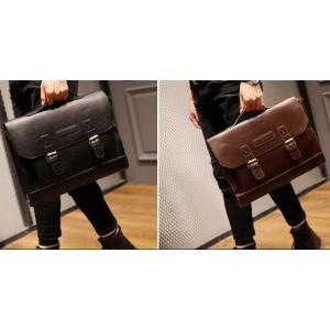 กระเป๋าสะพายวินเทจ แต่ง เข็มขัดกระดุม2magnet สไตล์อังกฤษ สี น้ำตาล ดำ