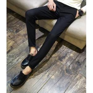 กางเกงสูททำงาน 3สี กางเกงผู้ชายขายาว กึ่งลำลอง ทรงสลิมฟิต ใส่สบาย No.28-34 ดำ น้ำเงิน ขาว