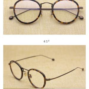 หลากสี! กรอบแว่นตาแฟชั่น เรโทร วินเทจ กลมขอบ (กรอบ ดำ ใส ดำทอง กระทอง )