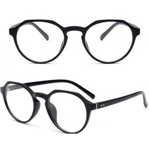แว่นตาแฟชั่น เรโทร วินเทจ เหลี่ยมบน (กรอบ ดำ)