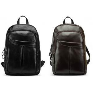กระเป๋าสะพายหลัง แต่งซิบโค้ง หนังPU ตาข่ายระบายอากาศ สีน้ำตาล ดำ