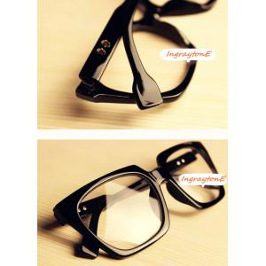 กรอบแว่นตาแฟชั่น เรโทร วินเทจ ห้าเหลี่ยม (ดำเงา)
