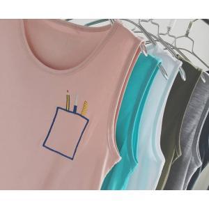 หลากสี เสื้อกล้าม เสื้อยืดแขนกุดปักพู่กัน ดีไซน์ญี่ปุน No.34 36 38 40