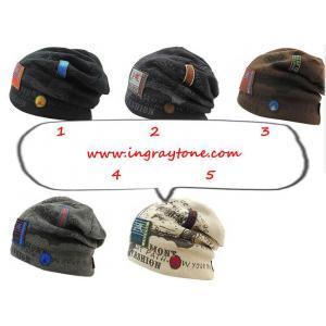 หมวกกันหนาว หมวกผ้าขนสัตว์ ใส่สบาย ติดเบด ฟ้อนท์ (สี 1 2 3 4 5 )