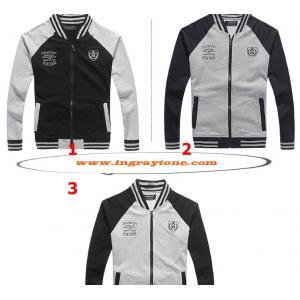 เสื้อแจ็คเก็ต เบสบอลติดซิบ โลโก้ปัก แขนทูโทน สี1 2 3 4 No.38 40 42 44 46 48
