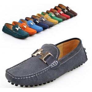หลากสี!!พรีออเดอร์ราคาพิเศษ รองเท้า loafer หนังกลับ H logo หนังกลับรุ่นคลาสสิค C9 หลากสีดำ เทา น้ำเงิน น้ำตาล แดง No.38-44
